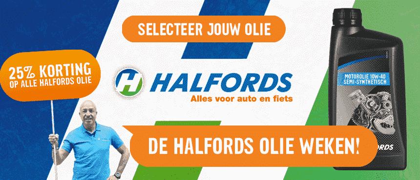 Halfords olie 25% korting