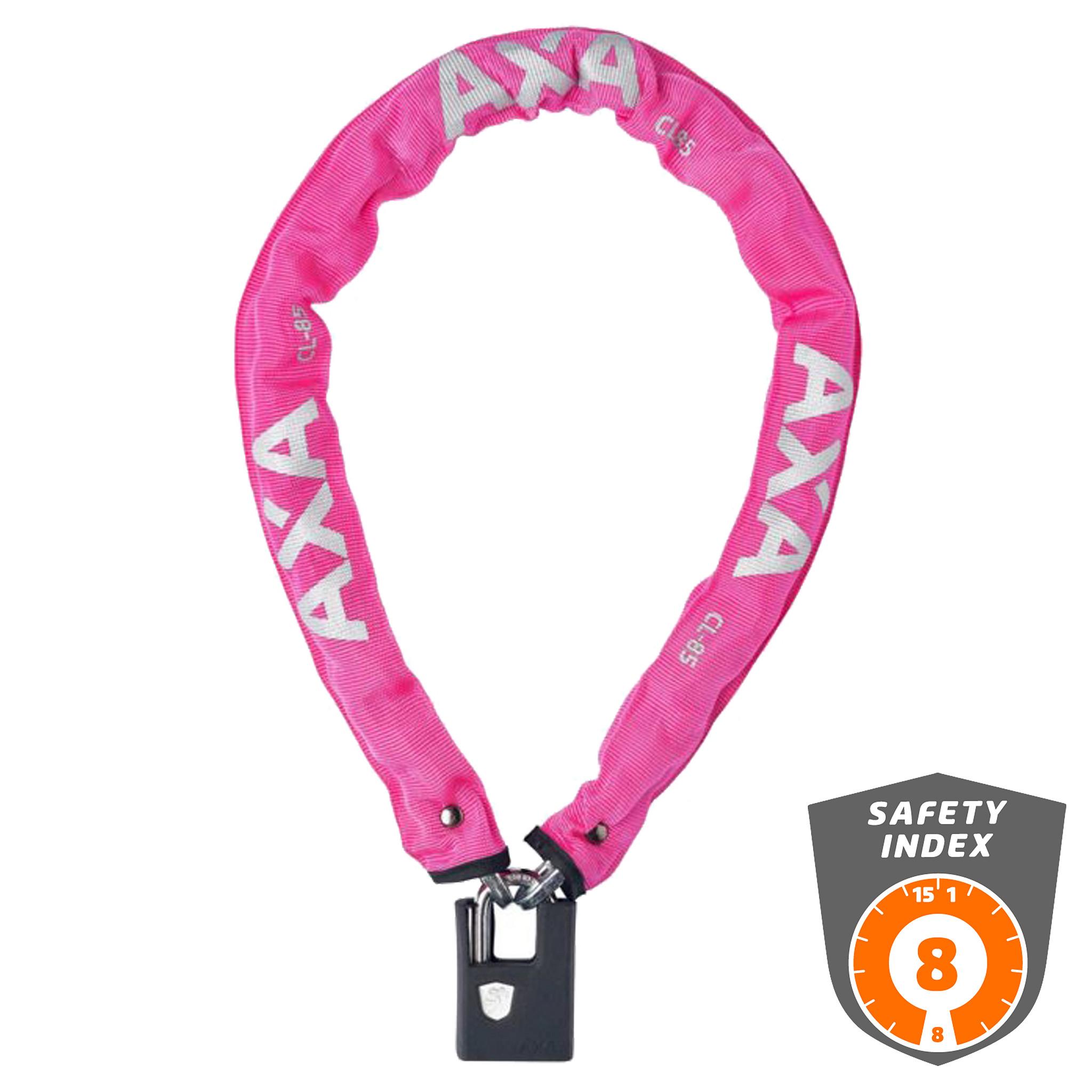 Axa Kettingslot Clinch 85/6 roze