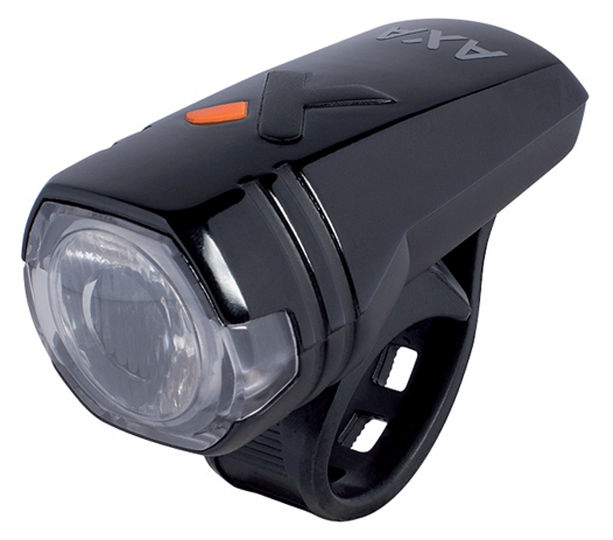 AXA verlichtingsset led batterij greenline usb oplaadbaar 15 lux voorlicht + 1 led achterlicht