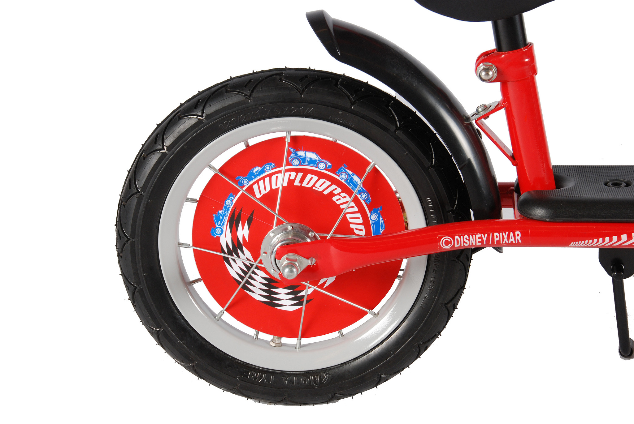 Disney Cars Loopfiets 12 Rood