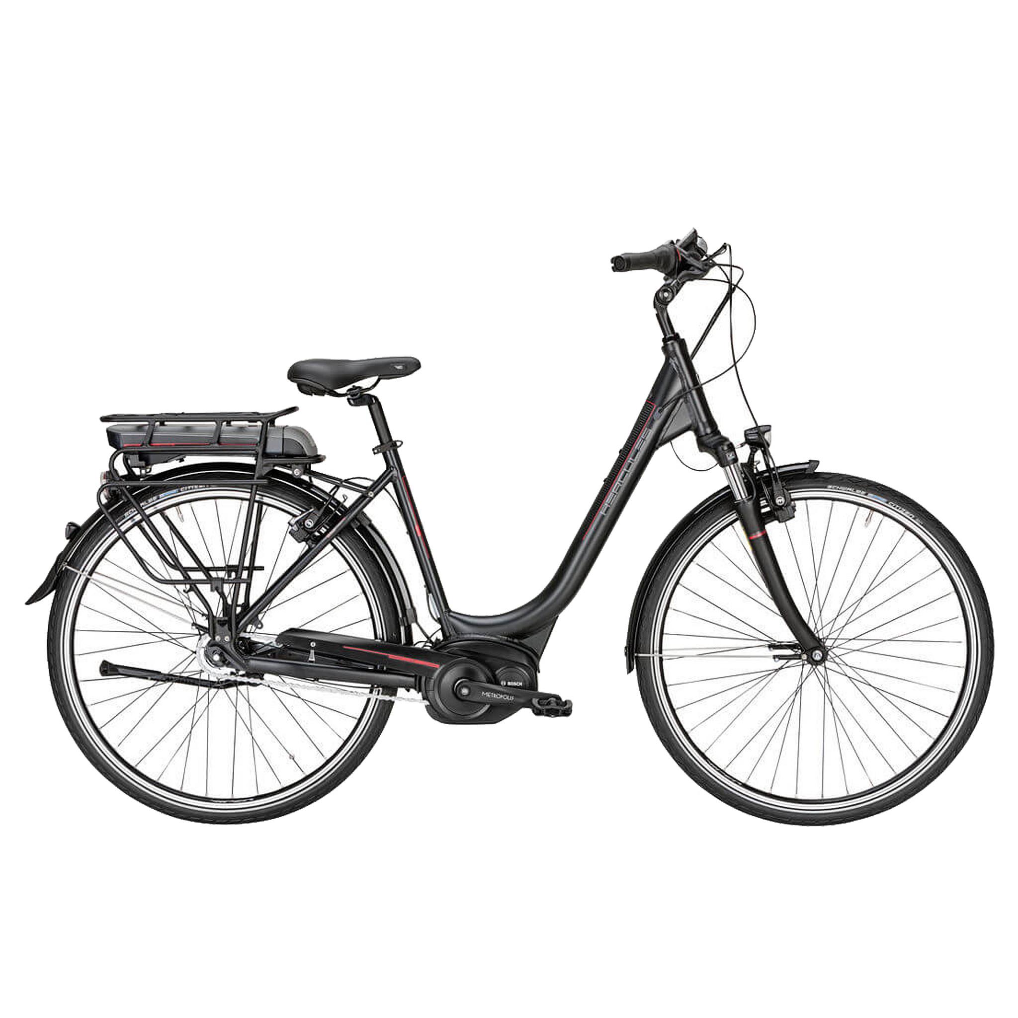 Hercules Elektrische fiets Roberta F7 dames mat zwart 50cm 396 Watt Zwart