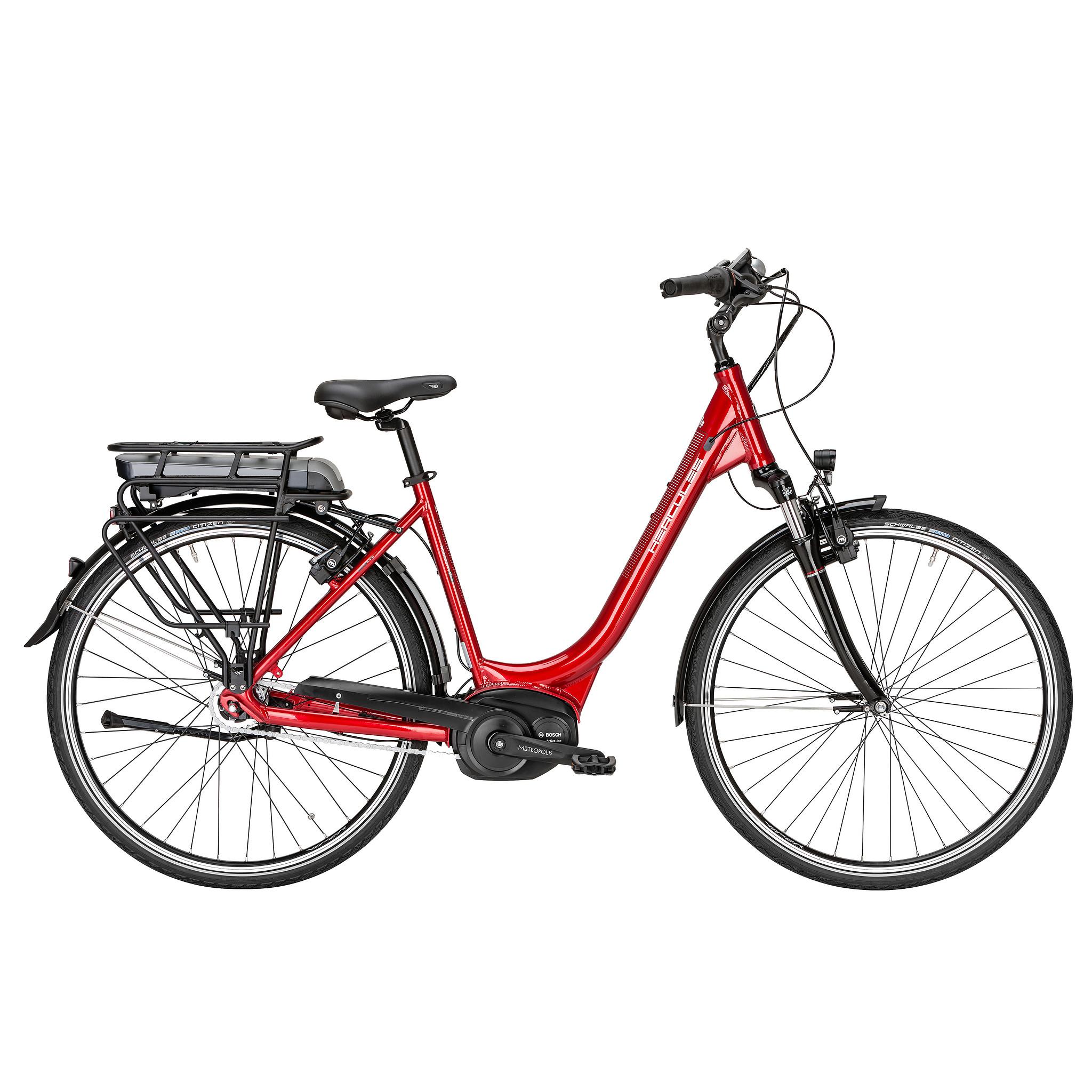Hercules Elektrische fiets Roberta F7 dames rood 50cm 396 Watt Rood