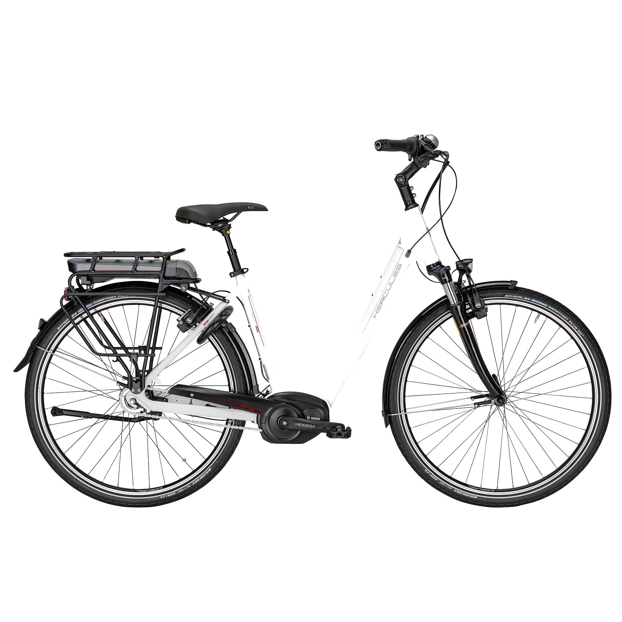 Hercules Elektrische fiets Roberta Pro F8 dames wit 50cm 396 Watt Wit