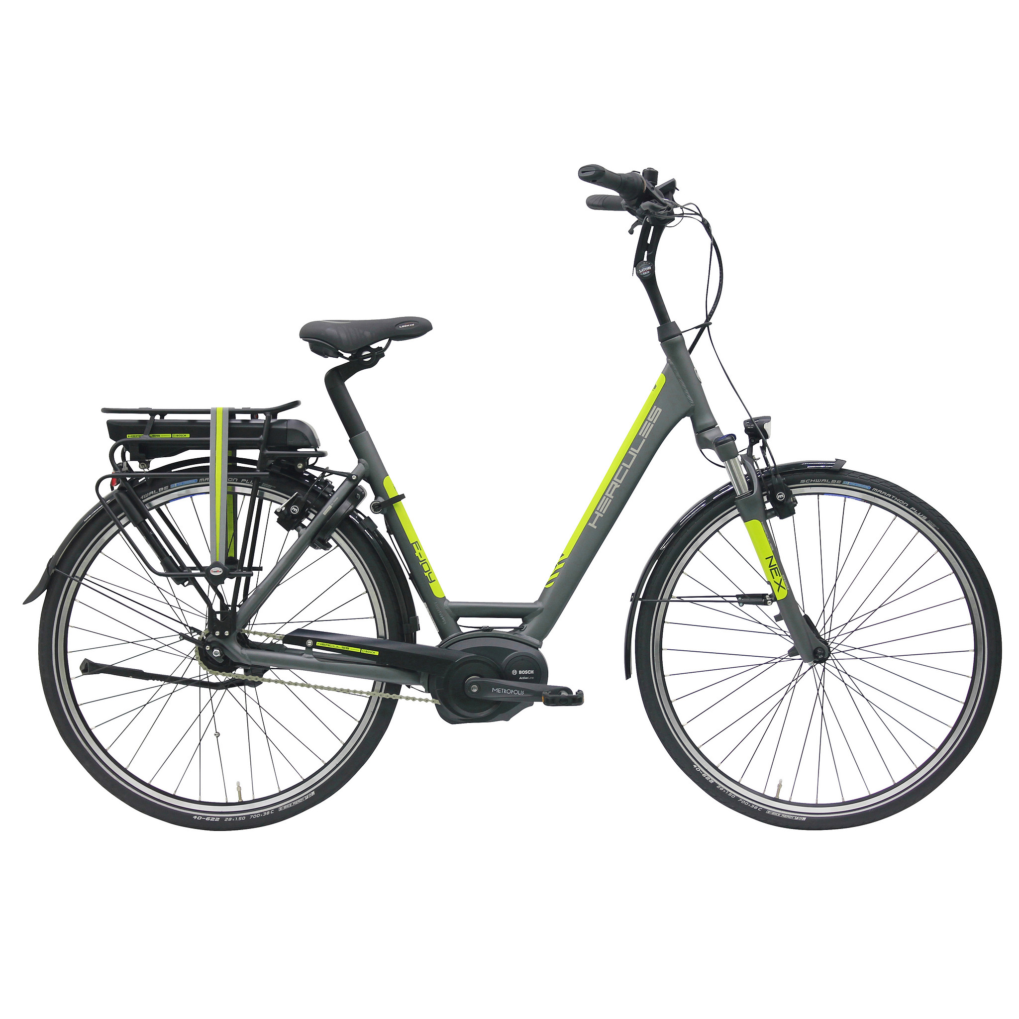 Hercules Elektrische fiets E-Joy mat grijs 396 Watt Grijs