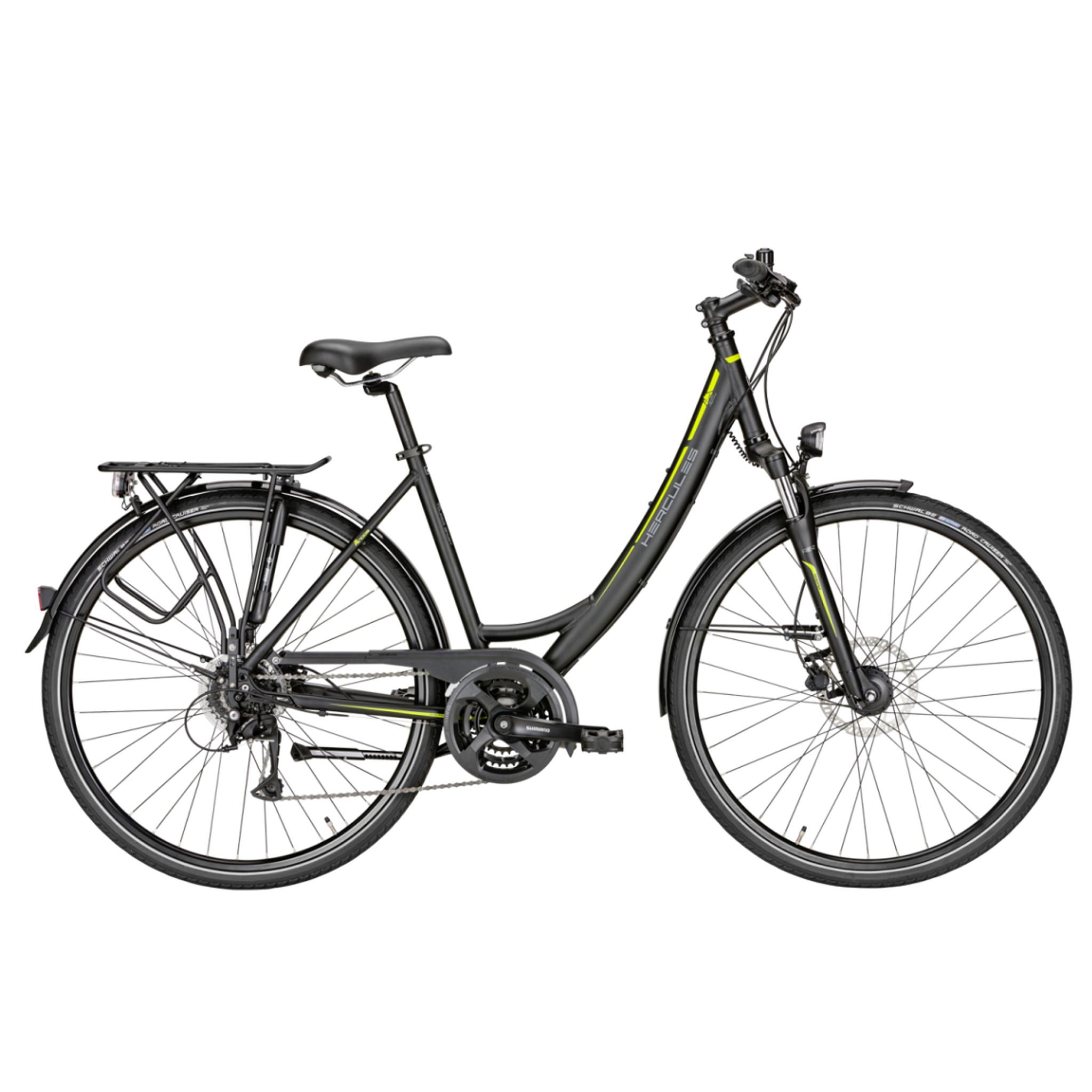 Hercules Sportieve fiets Tourer 24 Sport dames mat zwart 50cm Zwart