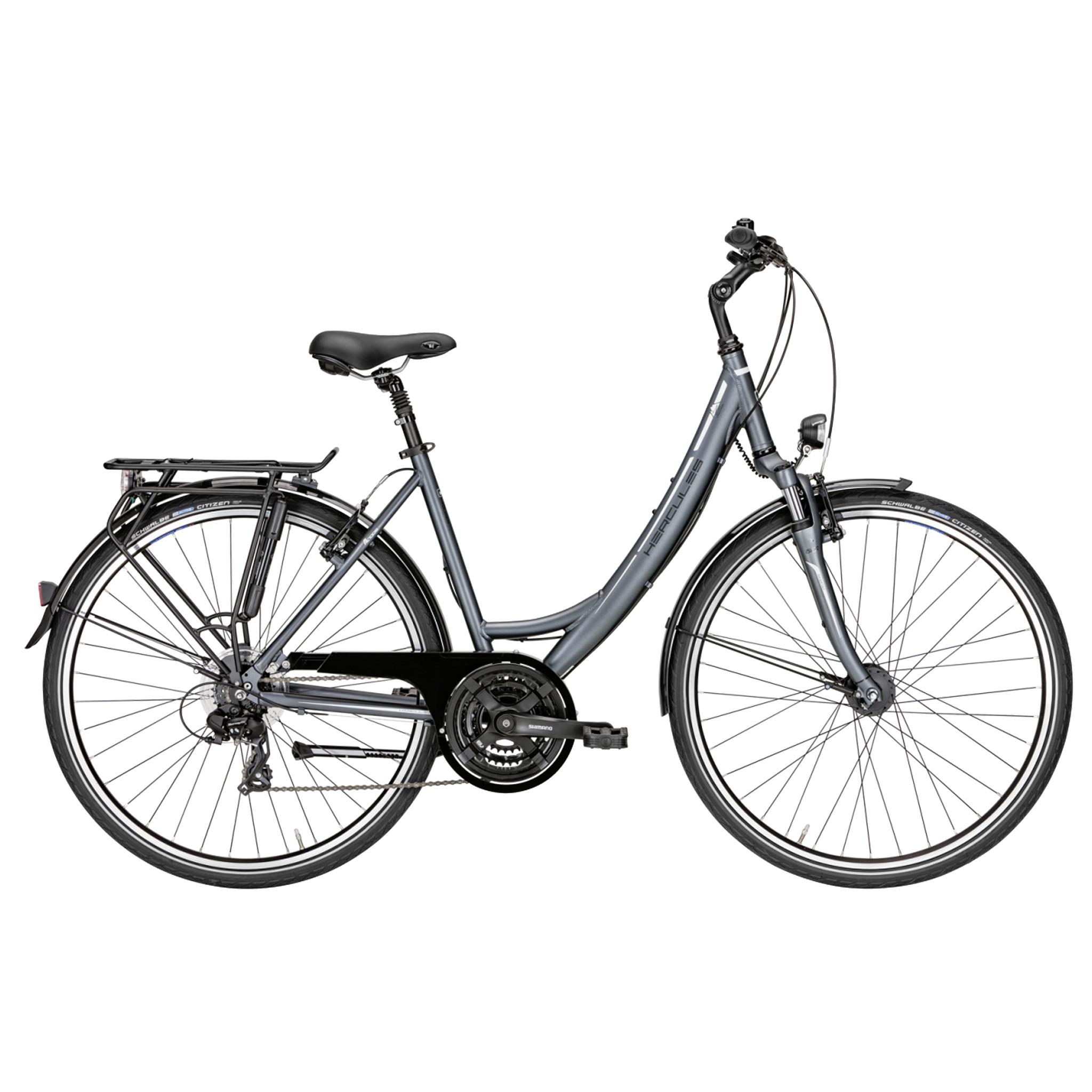 Hercules Sportieve fiets Tourer 21 dames grijs 45cm Grijs