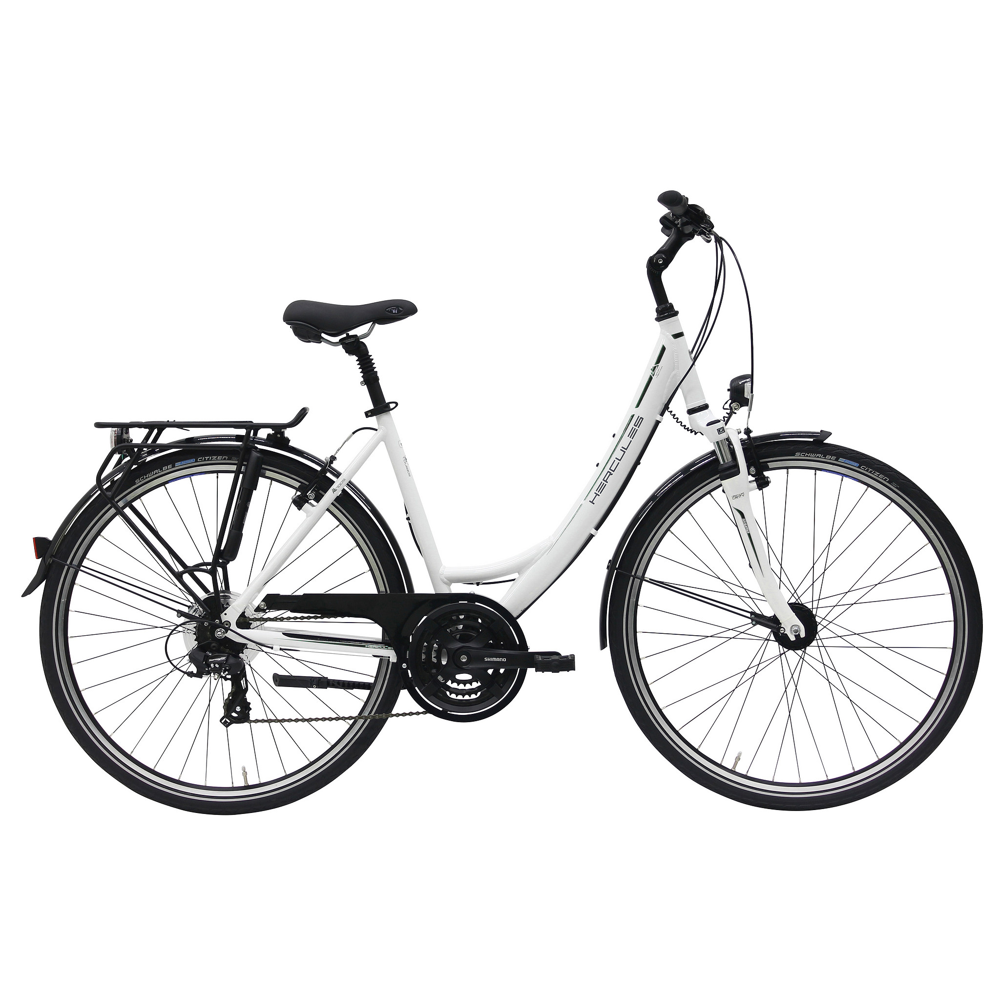 Hercules Sportieve fiets Tourer 21 dames wit 45cm Wit