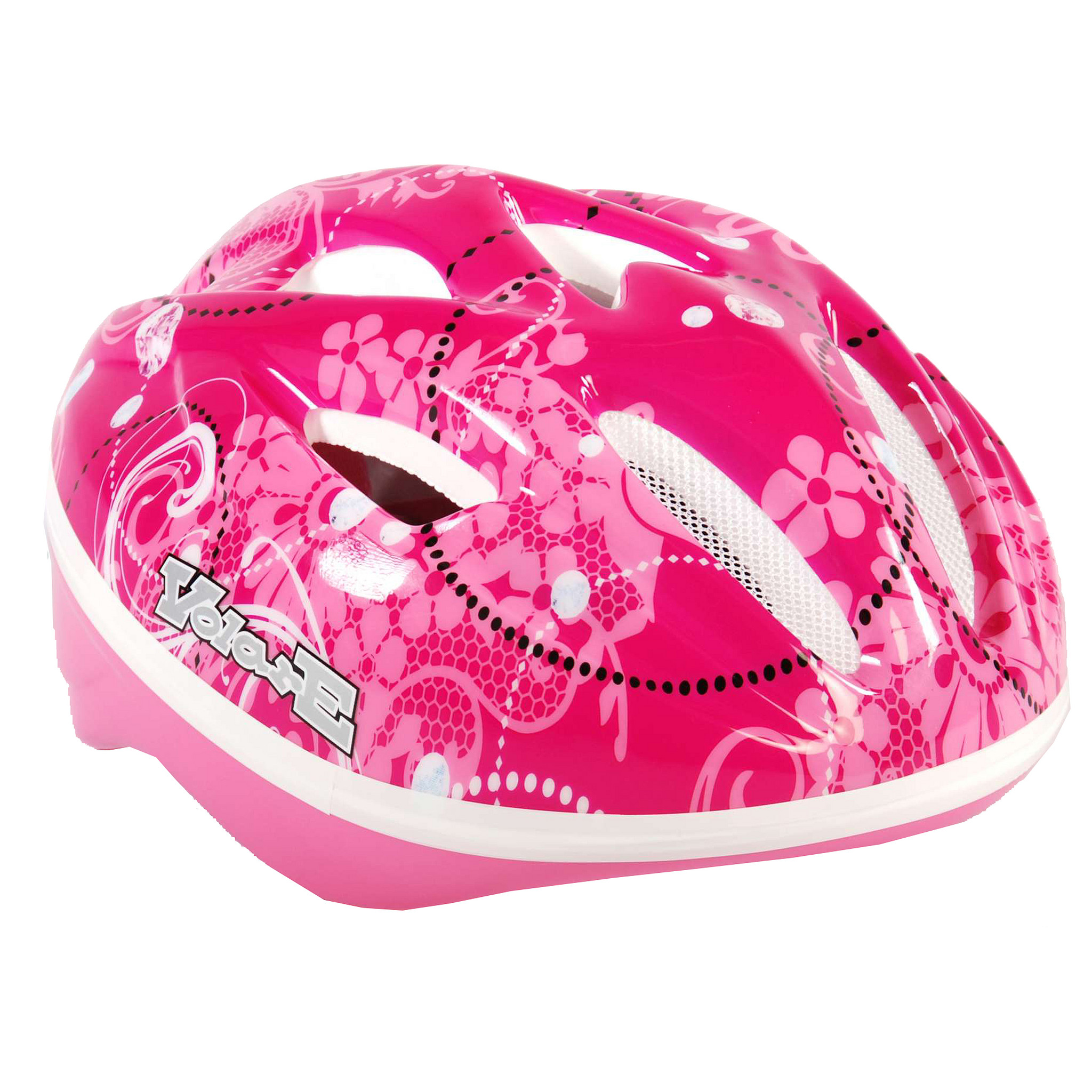 Afbeelding van Volare Fietshelm kind Roze Bloemen 51 55