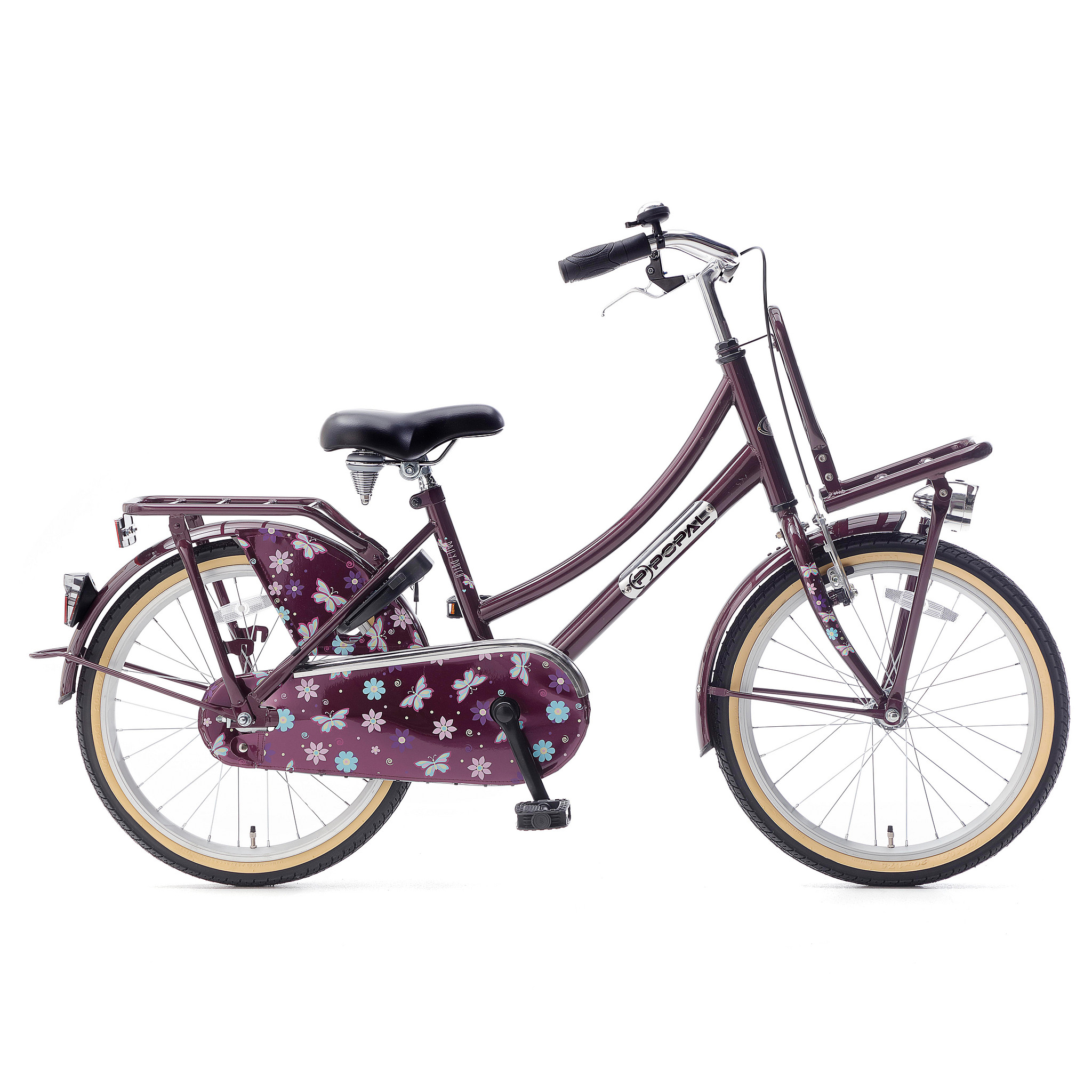 """Popal Kinderfiets Daily Dutch Basic Paars 20"""" Paars"""