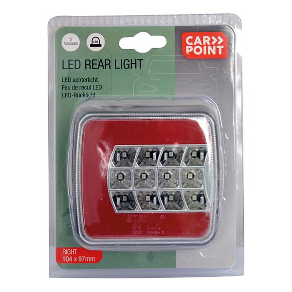 Carpoint Achterlicht LED rechts 5 functies vierkant