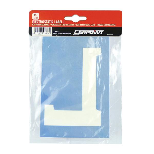 Carpoint Electrostatisch label L 10x15cm