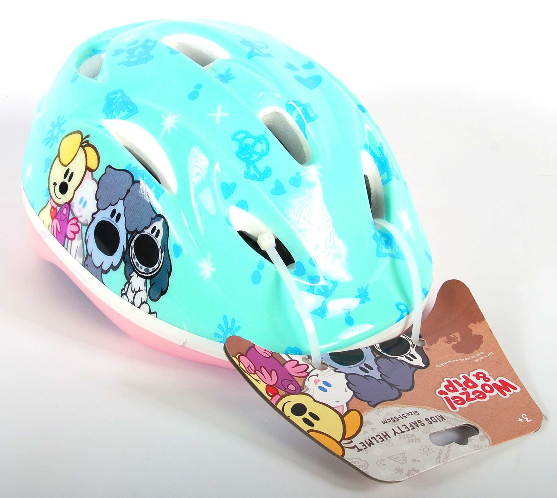 Volare Woezel & Pip fiets -skatehelm turquoise maat 51 55 cm
