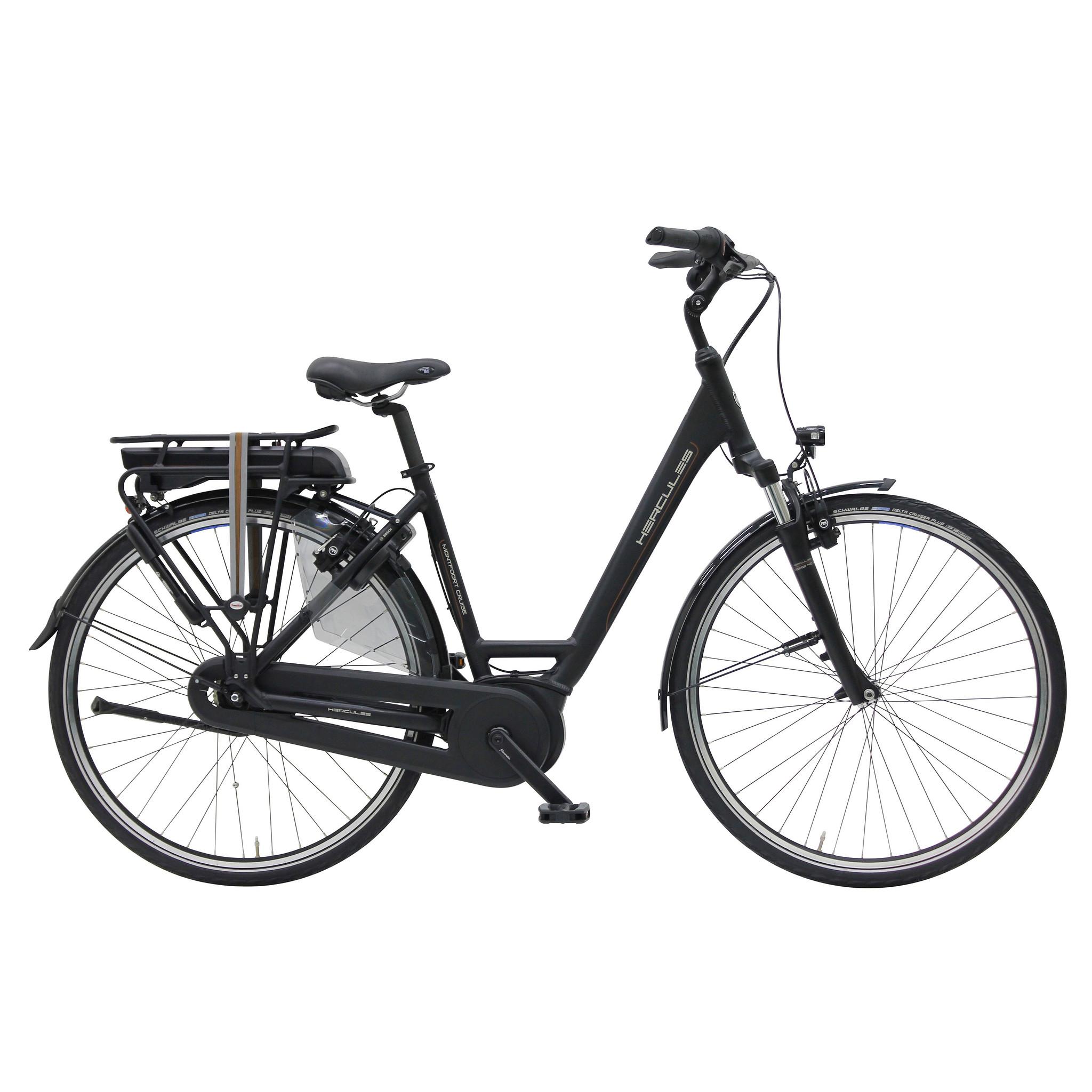 Hercules Elektrische fiets Montfoort Cruise dames mat zwart 45cm... Zwart