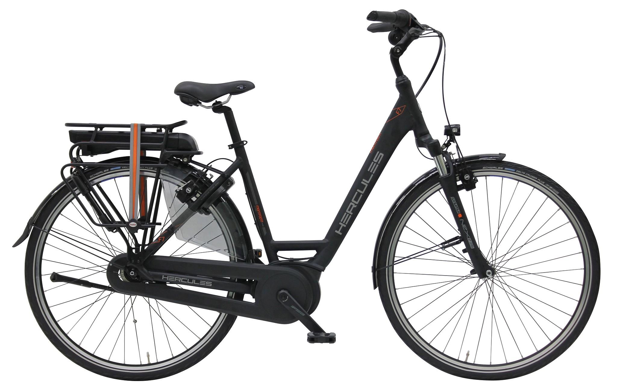 Hercules Elektrische fiets Montfoort Cruise dames mat zwart 50cm... Zilver