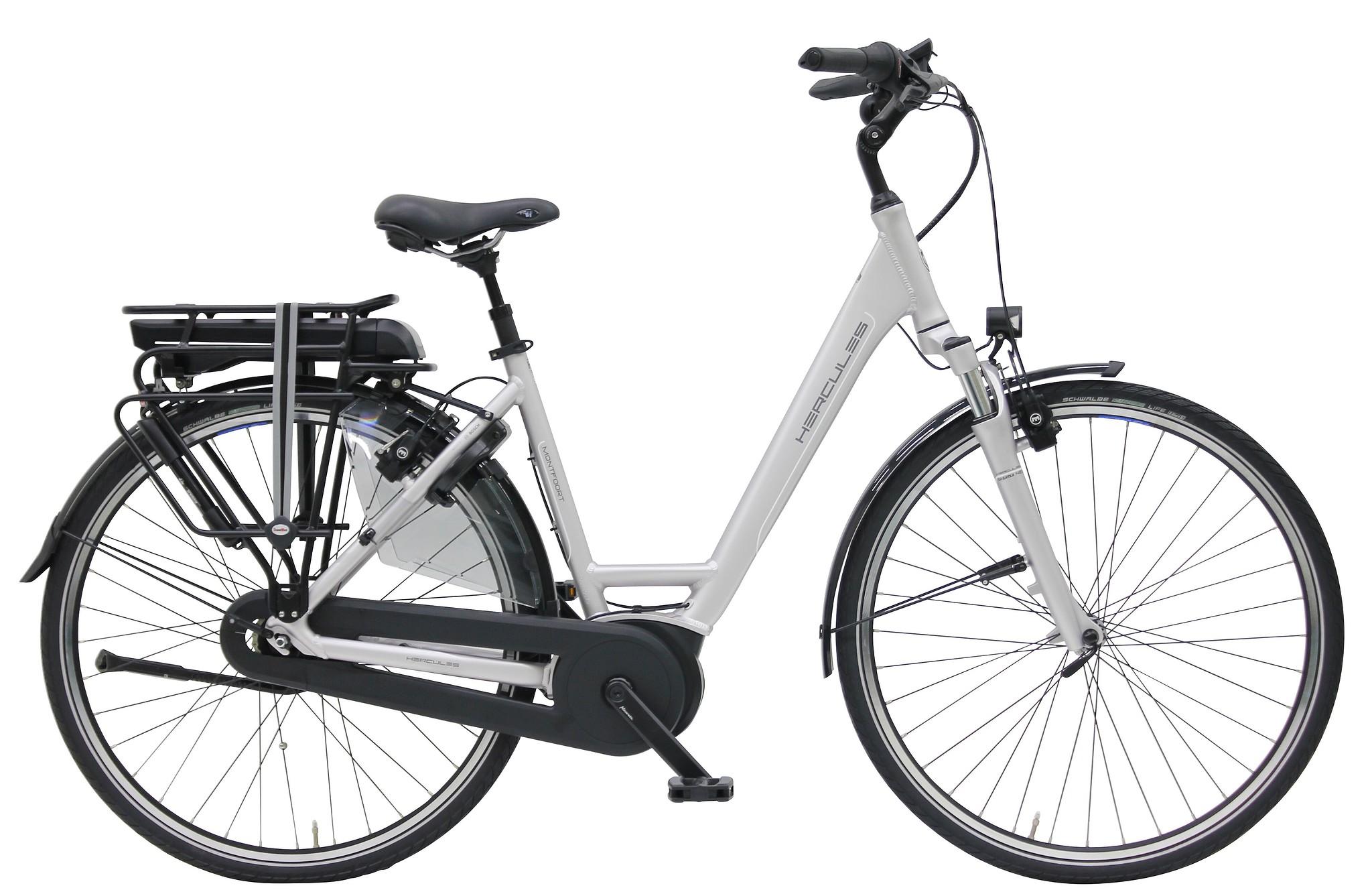 Hercules Elektrische fiets Montfoort dames mat zilver 50cm 400 Watt Zilver