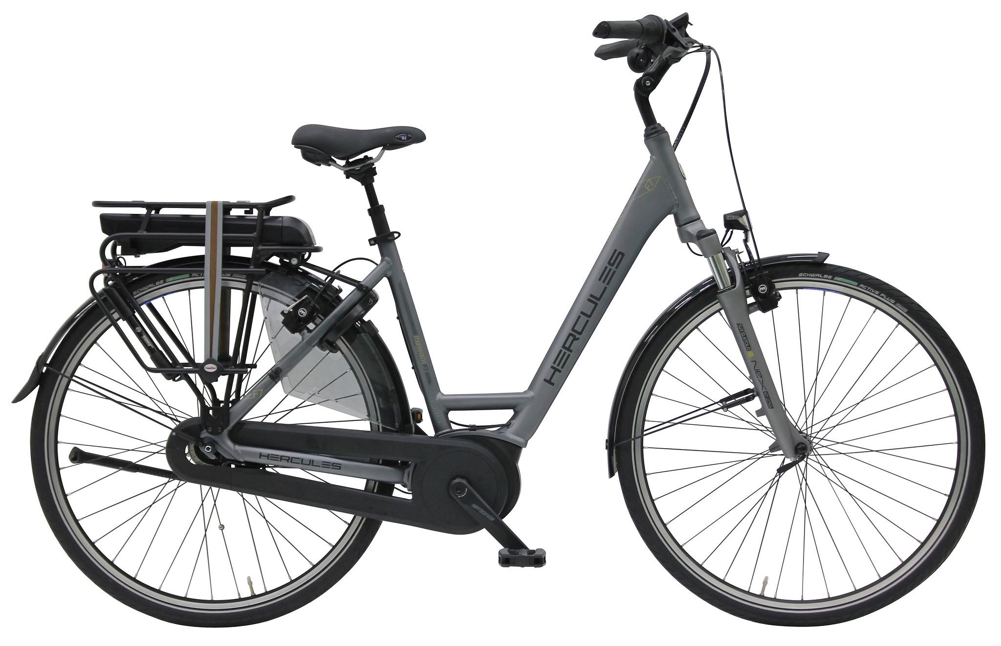 Hercules Elektrische fiets Montfoort dames mat antraciet 50cm 400 Watt Grijs