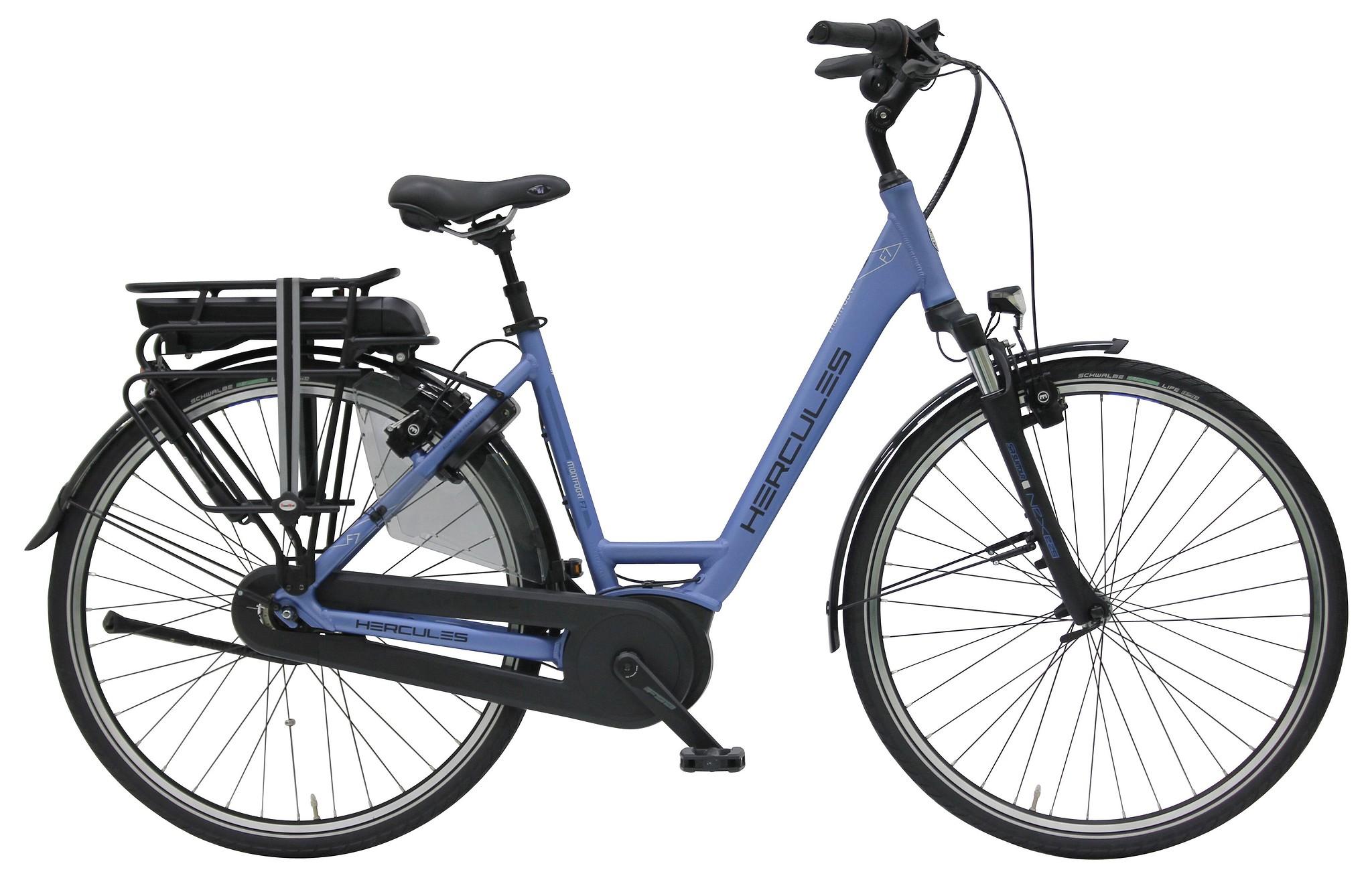 Hercules Elektrische fiets Montfoort dames mat blauw 50cm 400 Watt Blauw
