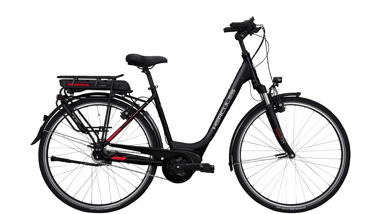 Hercules Elektrische fiets Roberta A+ dames mat zwart 50cm 400 Watt Zwart