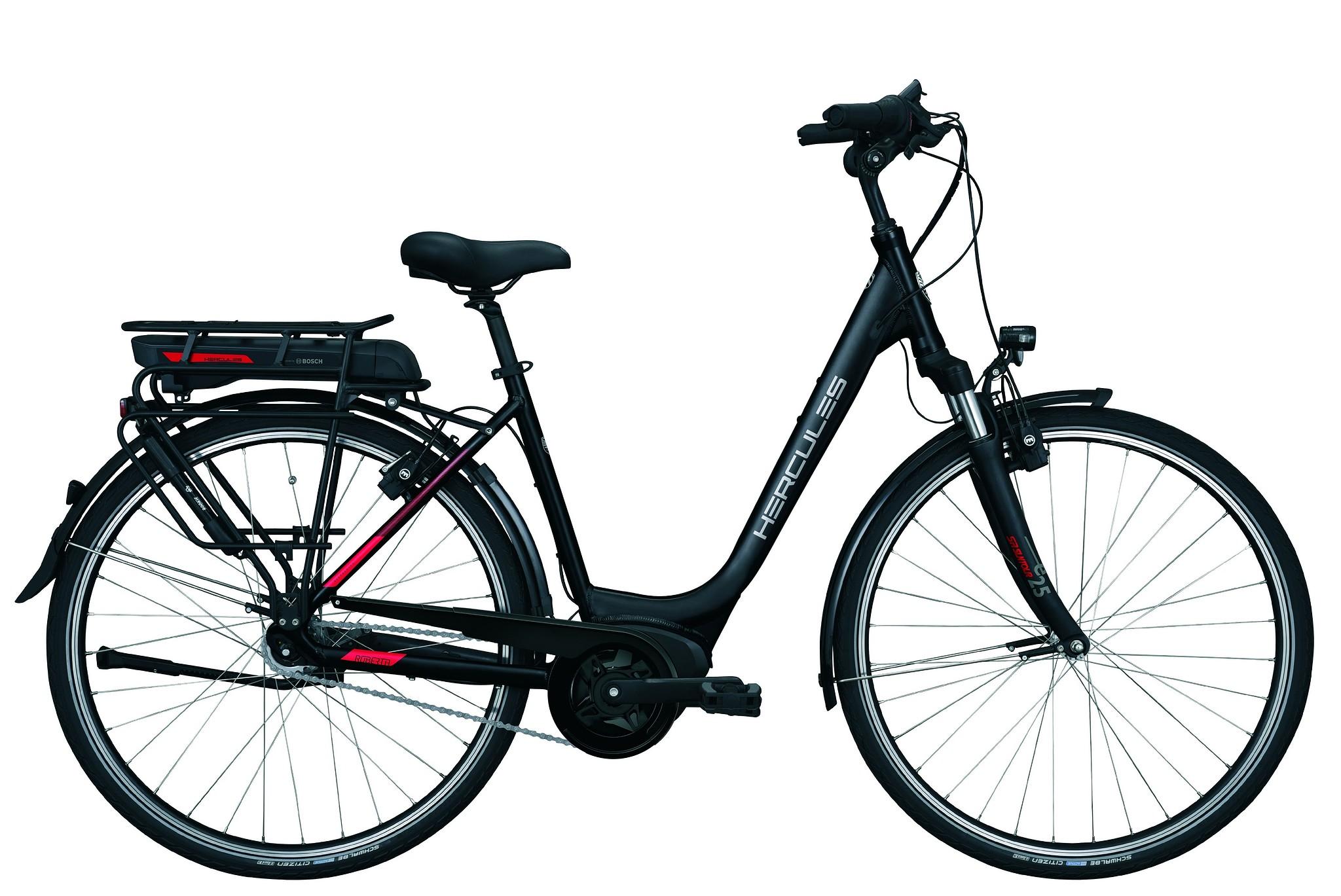 Hercules Elektrische fiets Roberta A+ dames mat zwart 54cm 500 Watt Zwart
