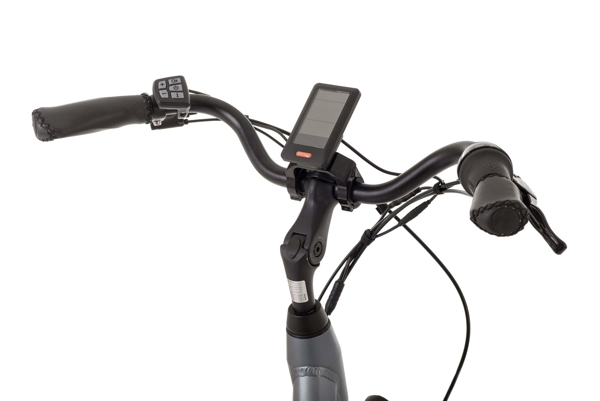 Bimas Elektrische fiets E-City 7.1 dames cool grijs 50cm 450 Watt Grijs