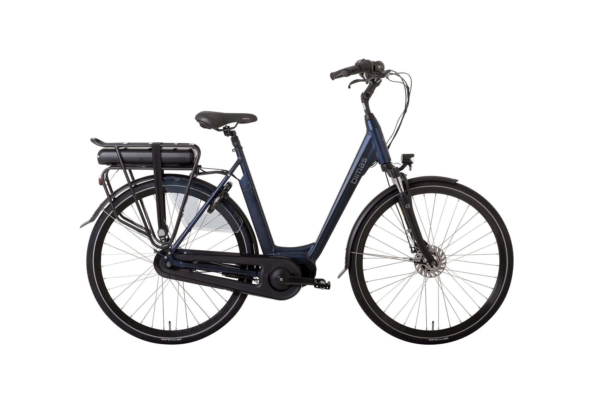 Bimas Elektrische fiets E-City 7.3 dames navy blauw 50cm 450 Watt Blauw