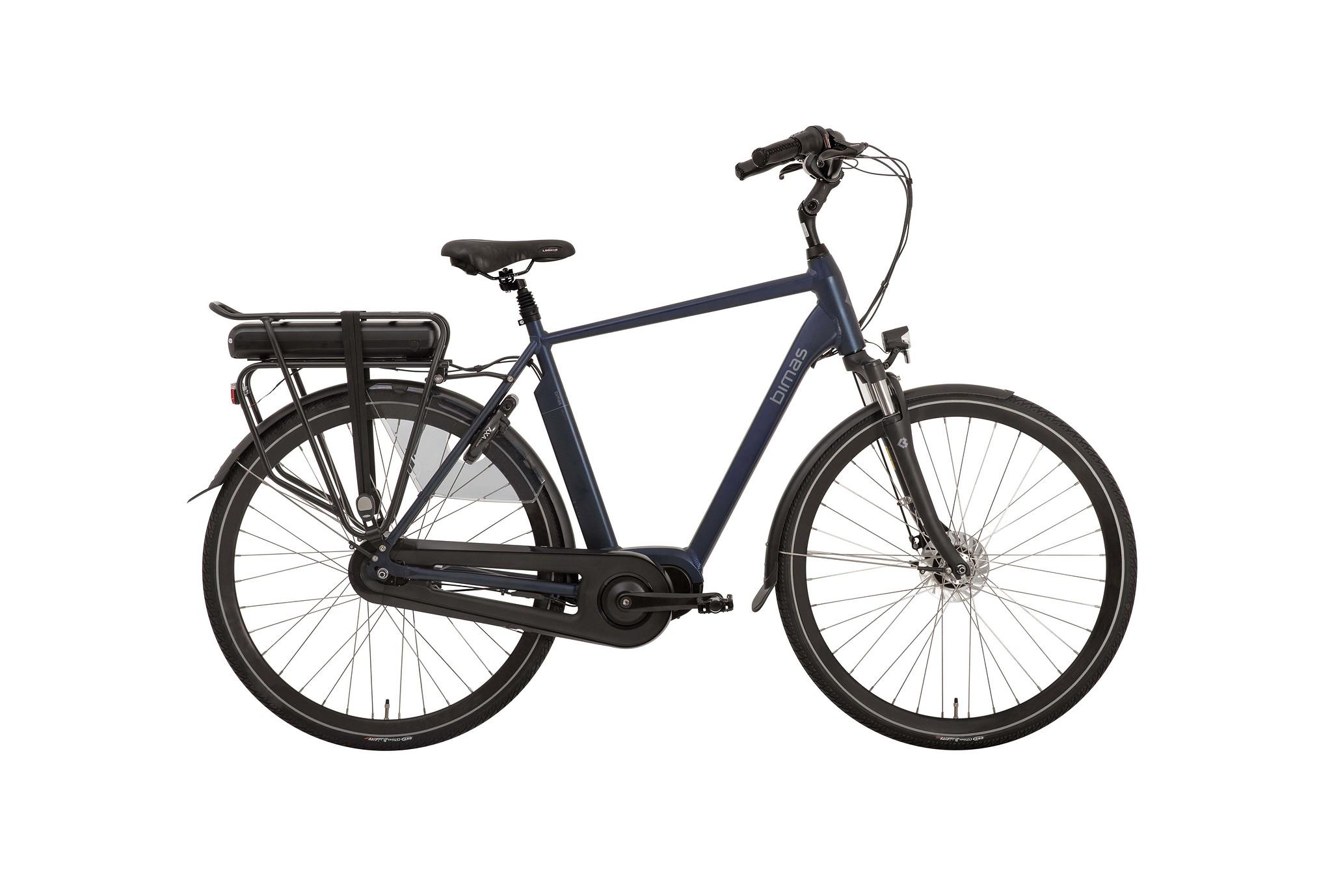 Bimas Elektrische fiets E-City 7.3 heren navy blauw 57cm 450 Watt Blauw