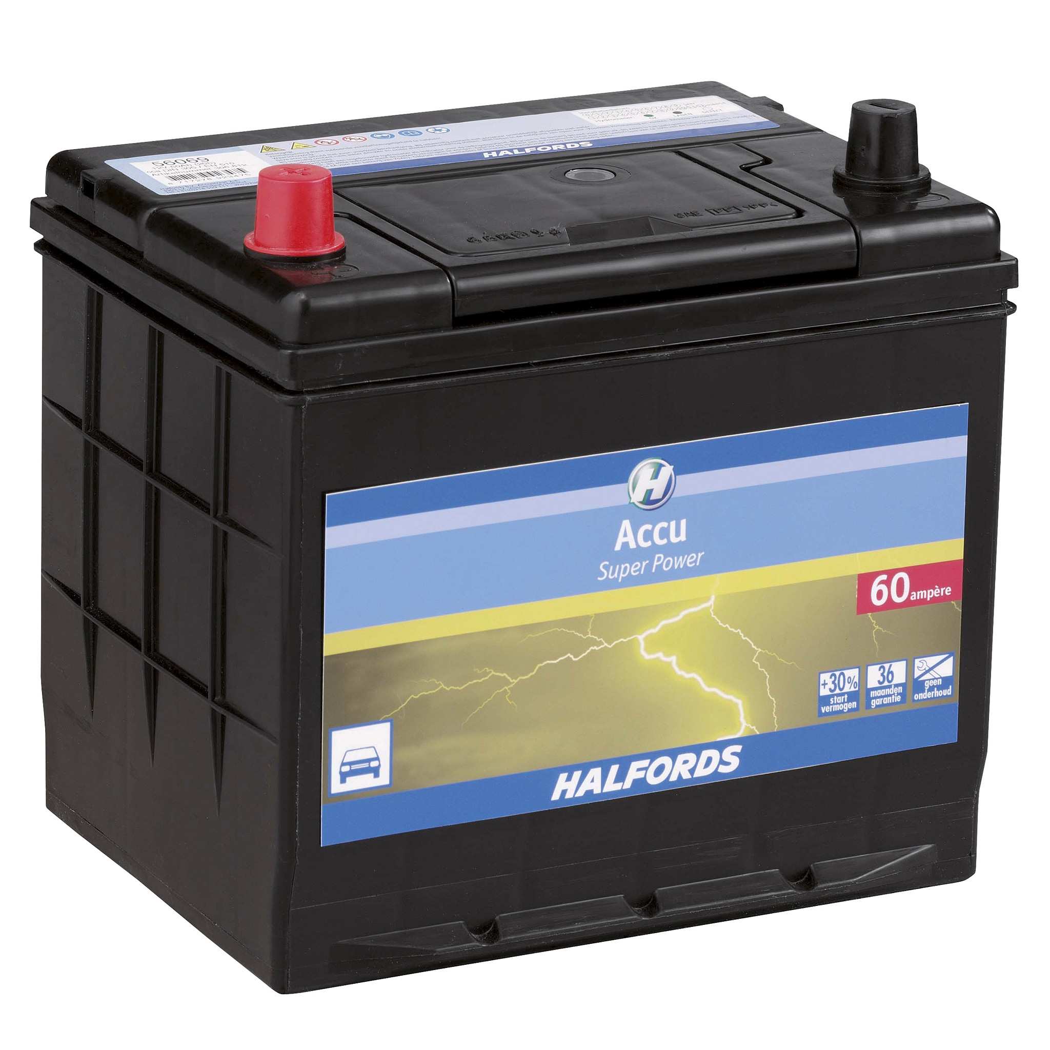 Halfords Accu Super Power 12 Volt 71Ah