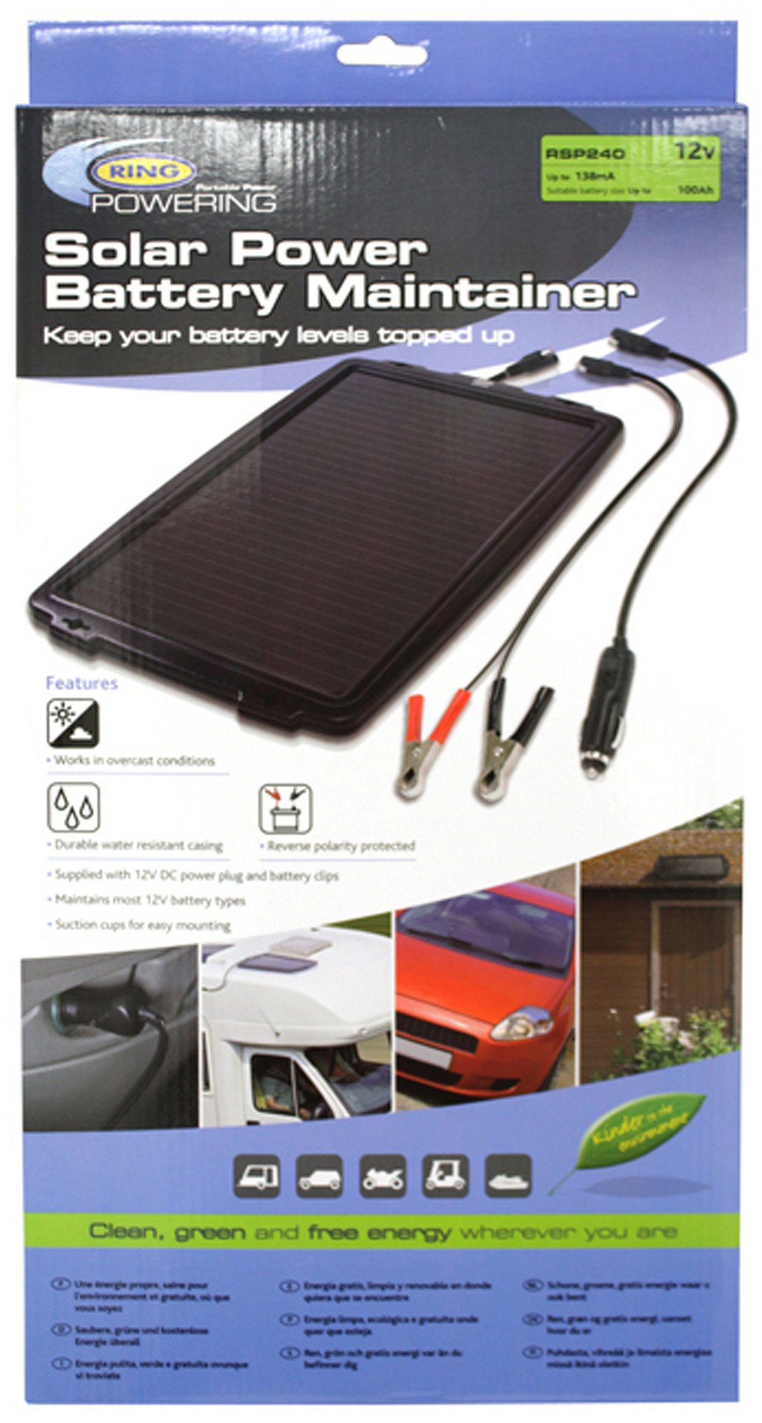 Ring Acculader Solar Rsp240