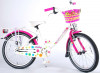"Volare Kinderfiets Ashley 20""  Wit met mand"
