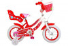 """Kinderfiets Volare Lovely 12""""  Rood/Wit"""