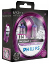 Philips Autolampen Colorvision H4 Paars