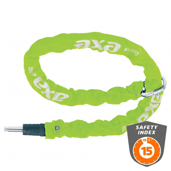 Axa Insteekketting RCL 100cm lime AXA RLC PLUG-IN KETTING 100*5.5, GR