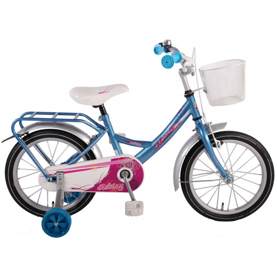 "Volare Kinderfiets Ashley blauw/zilver 16"" KINDERFIETS ASHLEY ICE BLUE 16"""""