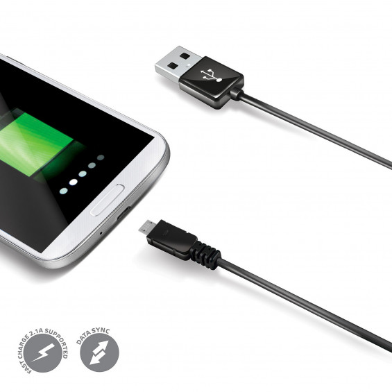 Celly Datakabel micro USB CELLY DATAKABEL MICRO USB ZWART