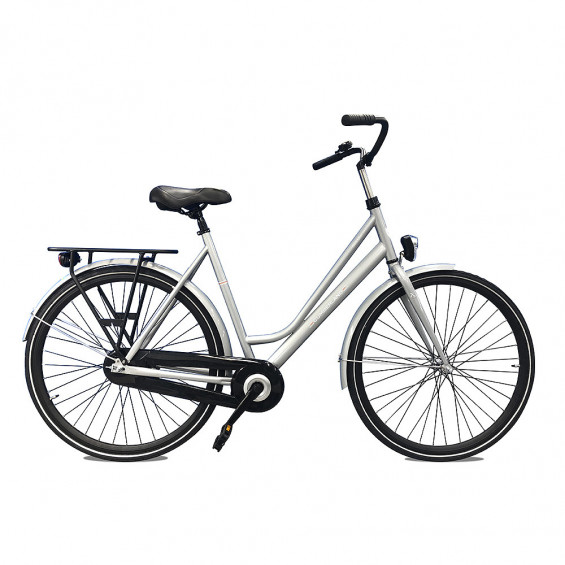 Cumberland Stadsfiets Plymouth dames zilver 57cm 2de kansjes CUMBERLAND PLYMOUTH D57 ZILVER