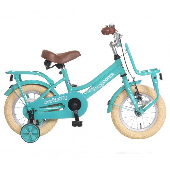 "Popal Kinderfiets Cooper Turquoise 12"" POPAL COOPER 12"" TURQUOISE"