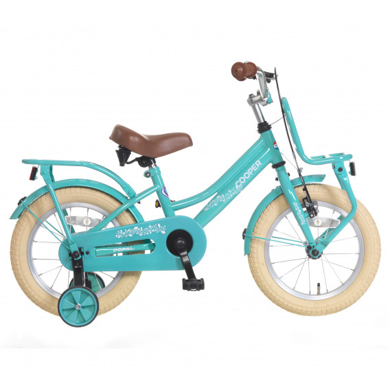 "Popal Kinderfiets Cooper Turquoise 14"" POPAL COOPER 14""  TURQUOISE"
