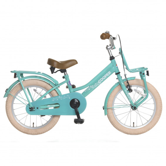 """Popal Kinderfiets Cooper Turquoise 16"""" POPAL COOPER 16""""  TURQOUISE"""