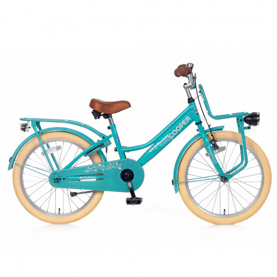 """Popal Kinderfiets Cooper Turquoise 20"""" POPAL COOPER 20""""  TURQUOISE"""