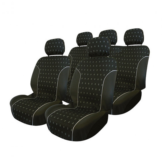 Carpoint Stoelhoesset 9-delig Charcoal airbag STOELHOESSET CHARCOAL 9-DELIG