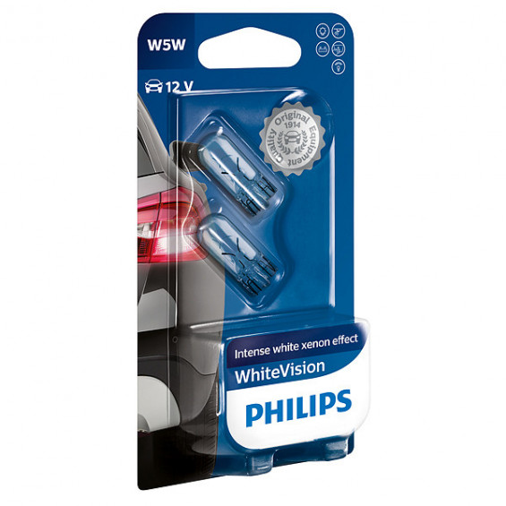Philips 12961NBVB2 W5W White Vision PHILIPS 12961NBVB2 W5W WHITE VISION