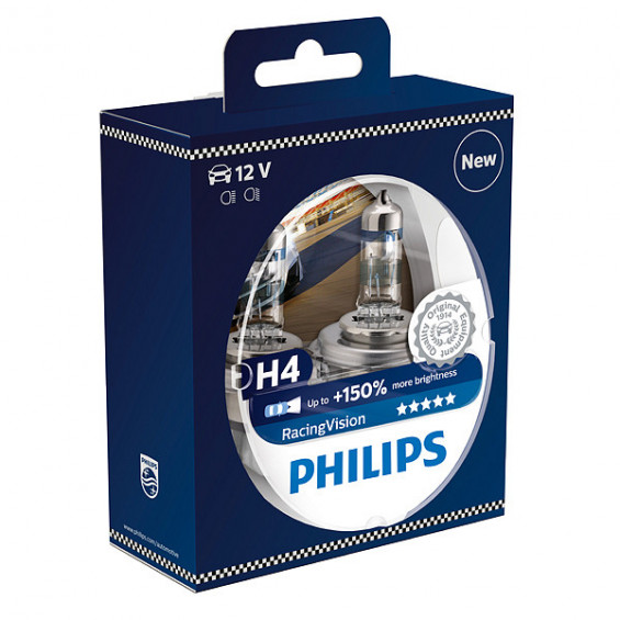 Philips 12342RVS2 Racing Vision H4 PHILIPS 12342RVS2 H4 RACING VISION