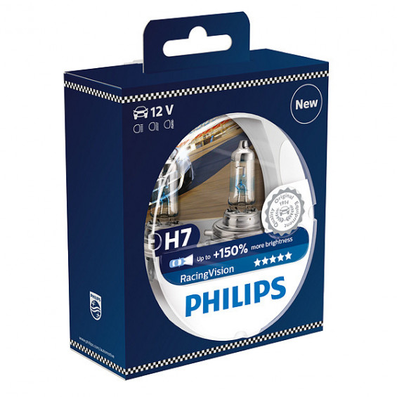 Philips 12972RVS2 Racing Vision H7 PHILIPS 12972RVS2 H7 RACING VISION