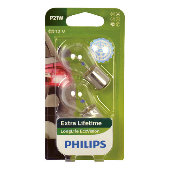 Philips 12498LLECOB2 P21W EcoVision 5W blister PHILIPS 12498LLECOB2 P21W ECOVIS BL