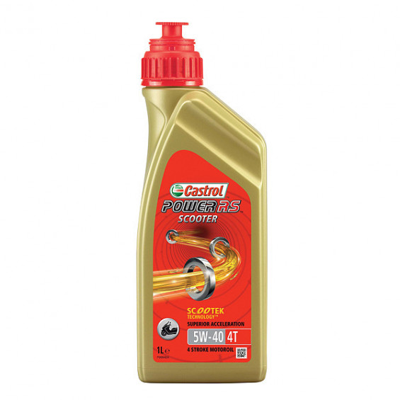 Castrol 155BBB Power RS Scooter olie 4T 5W40 1L CASTROL POWER RS SCOOTR 4T 5W-40 1L