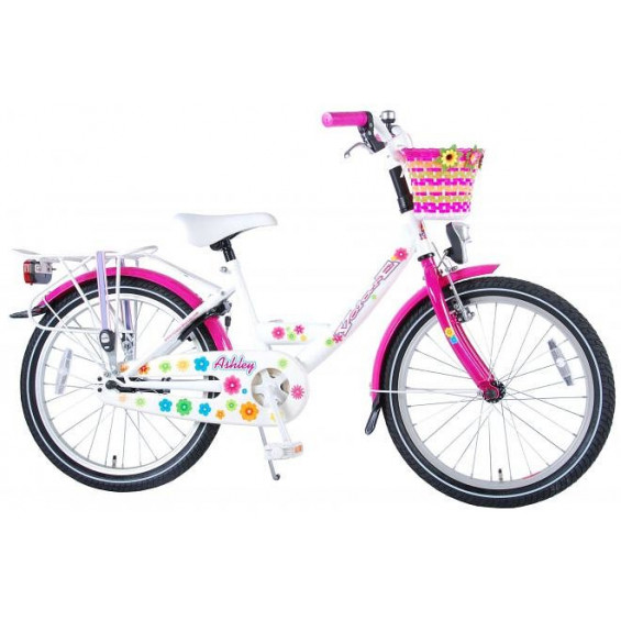 "Volare Kinderfiets Ashley 20""  Wit met mand VOLARE ASHLEY 20""  WIT"