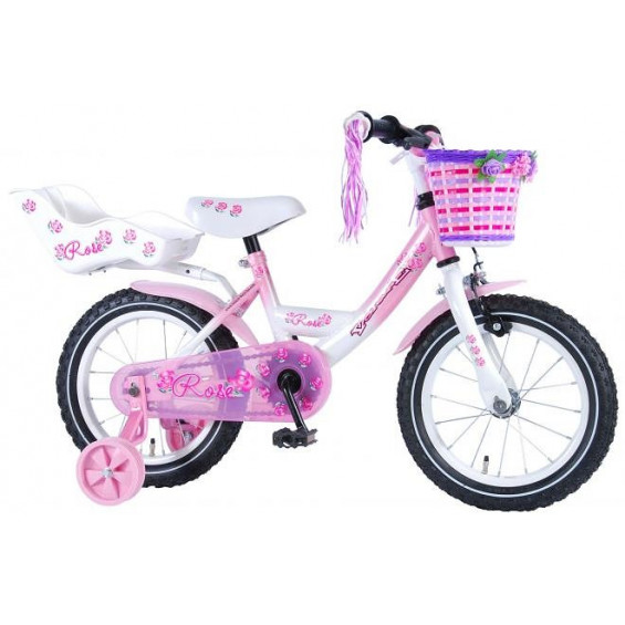 """Volare Kinderfiets Rose 14""""  Wit VOLARE ROSE 14""""  WIT"""