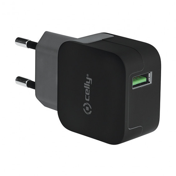 Celly Thuislader Turbo 1 USB 2.4A CELLY THUISLADER TURBO 1 USB 2.4A