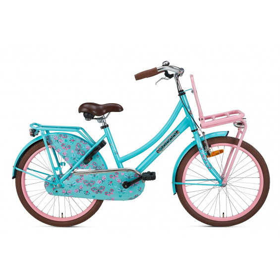 "Popal Kinderfiets Daily Dutch Turquoise Roze 22"" POPAL DAILY D. BASIC 22"" TURQ ROZE"