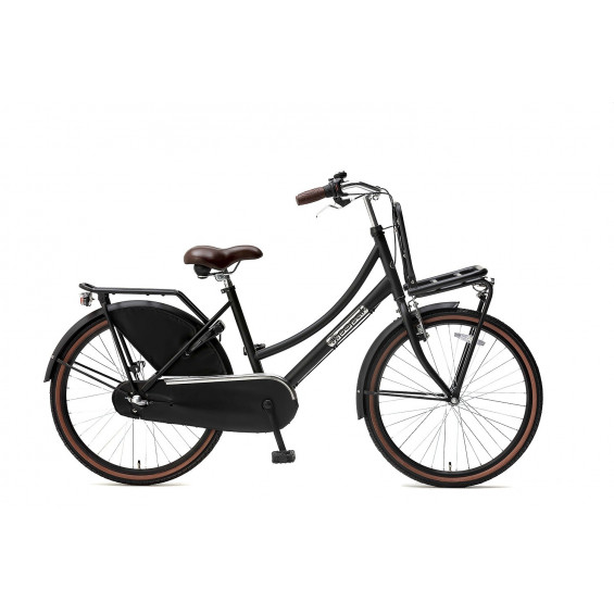 "Popal Kinderfiets Daily Dutch Basic Plus N3 mat zwart 24"" POPAL DAILY D.BASIC+ 24"" N3 M.ZWART"